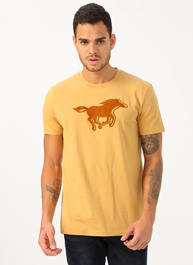 Mustang Tişört Camel